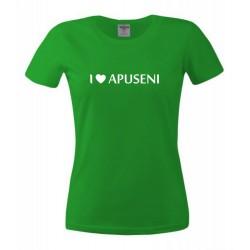 Tricou I Love Apuseni dame, verde