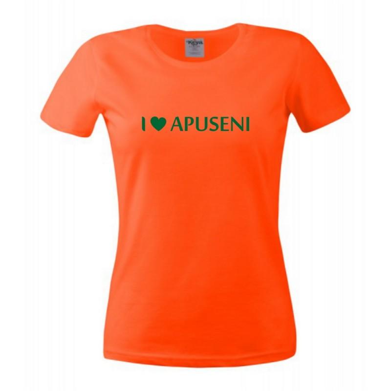 Tricou I Love Apuseni dame, portocaliu